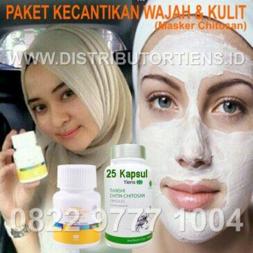 Paket Kecantikan Kulit dan Wajah Vitaline + Masker Chitosan Tiens Tianshi