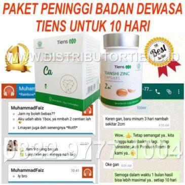 Paket Dewasa 10 Hari Peninggi Badan Kalsium Zinc Tiens Tianshi Herbal
