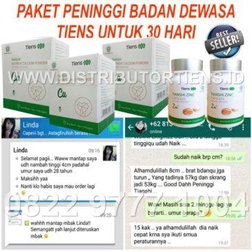 Paket Silver Dewasa 30 Hari Peninggi Badan Kalsium Zinc Tiens Tianshi Herbal