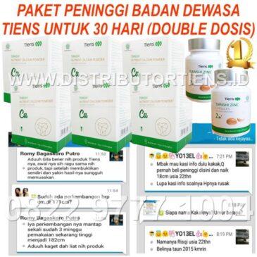 Paket Gold Dewasa 30 Hari Double Dosis Peninggi Badan Kalsium Zinc Tiens