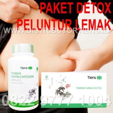 Paket Detox Peluntur Lemak Chitosan & Jiang Zhi Tea Tiens Tianshi