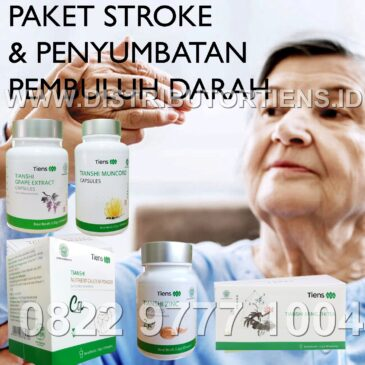Paket Stroke Atasi Penyumbatan Pembuluh Darah Herbal Tiens