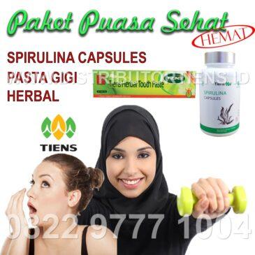 Paket Puasa Hemat Spirulina + Pasta Gigi Herbal Tiens