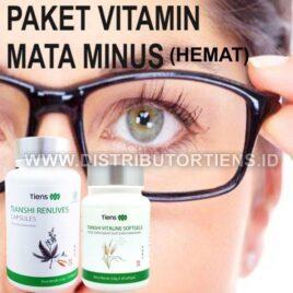 Paket Vitamin Mata Minus Hemat Renuves dan Vitaline Tiens Tianshi