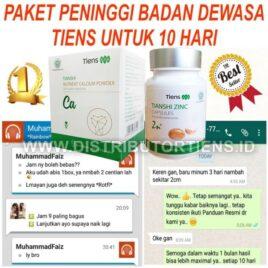 Paket Peninggi Dewasa 10 Hari Peninggi Badan Kalsium Zinc Tiens