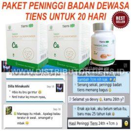 Paket Peninggi Dewasa 20 Hari Meninggikan Badan Tiens Kalsium Zinc