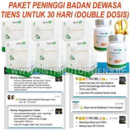Paket Peninggi 30 Hari Double Dosis Meninggikan Badan Tiens Kalsium Zinc