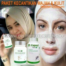 Paket Kecantikan Masker Chitosan + Vitaline | Mencerahkan Kulit Wajah
