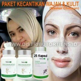 Paket Kecantikan Masker Chitosan + 2 Vitaline | Mencerahkan Kulit Wajah
